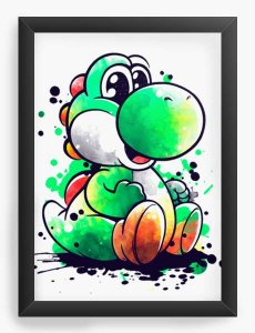 Quadro Decorativo A4 (33X24) Geekz Yoshi - Loja Nerd e Geek - Presentes Criativos