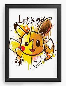 Quadro Decorativo A4 (33X24) Geekz Pikachu - Loja Nerd e Geek - Presentes Criativos