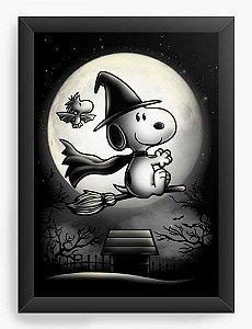 Quadro Decorativo A4 (33X24) Geekz O Bruxinho - No mundo da Lua