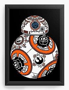 Quadro Decorativo A4 (33X24) Geekz Space Wars BB - Loja Nerd e Geek - Presentes Criativos