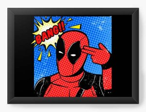 Quadro Decorativo A4 (33X24) Geekz Red Hero Bang - Loja Nerd e Geek - Presentes Criativos