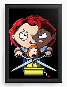 Quadro Decorativo A4 (33X24) Geekz Chuck - Loja Nerd e Geek - Presentes Criativos