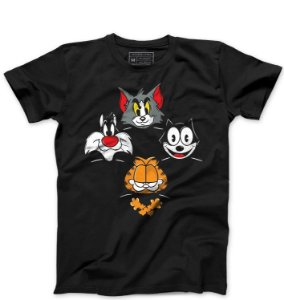 Camiseta Masculina Felix e Frajola - Loja Nerd e Geek - Presentes Criativos