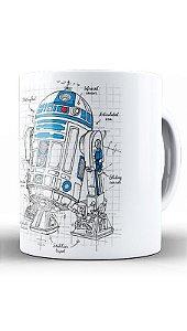 Caneca Geekz R2D2 Space Wars - Loja Nerd e Geek - Presentes Criativos