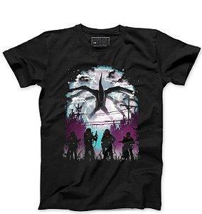 Camiseta Masculina Stranger Things Demogorgon - Loja Nerd e Geek - Presentes Criativos