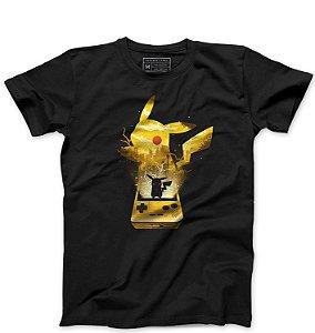Camiseta Masculina Pokemon Pikachu - Loja Nerd e Geek - Presentes Criativos