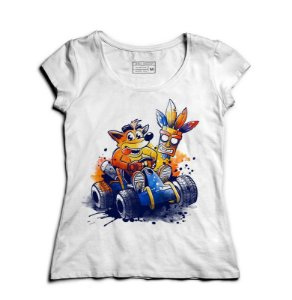 Camiseta Feminina Crash - Loja Nerd e Geek - Presentes Criativos