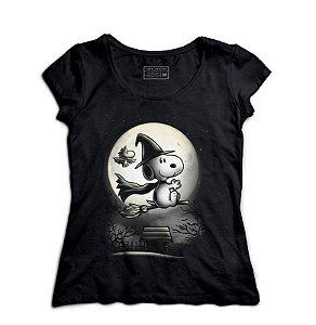 Camiseta Feminina Snoopy O Bruxo - Loja Nerd e Geek - Presentes Criativos