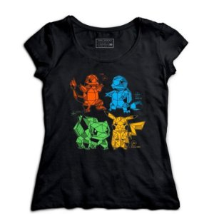 Camiseta Feminina Pokemon - Loja Nerd e Geek - Presentes Criativos