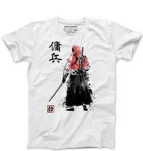 Camiseta Masculina Mascara Samurai - Loja Nerd e Geek - Presentes Criativos