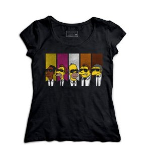 Camiseta Feminina Simpsons 007 - Loja Nerd e Geek - Presentes Criativos