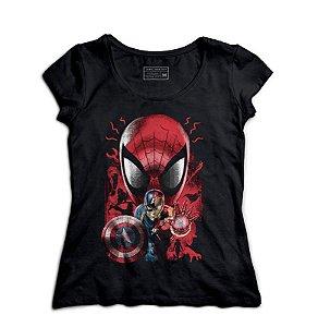 Camiseta Feminina Aracnídeo e Americano - Loja Nerd e Geek - Presentes Criativos