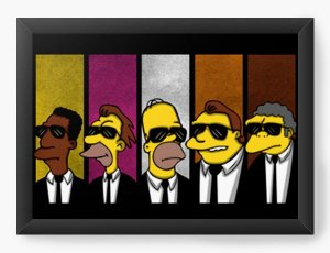 Quadro Decorativo A4 (33X24) Geekz Simpsons 007 - Loja Nerd e Geek - Presentes Criativos
