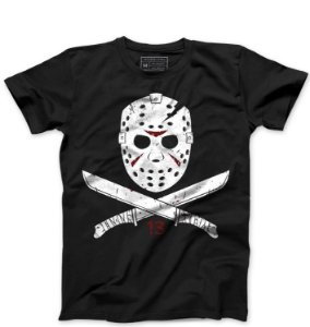 Camiseta Masculina Jason - Loja Nerd e Geek - Presentes Criativos