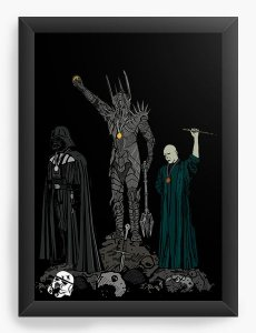 Quadro Decorativo A4 (33X24) Geekz Space Wars Evil - Loja Nerd e Geek - Presentes Criativos