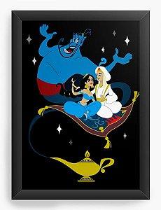 Quadro Decorativo A4 (33X24) Geekz Aladino - Loja Nerd e Geek - Presentes Criativos