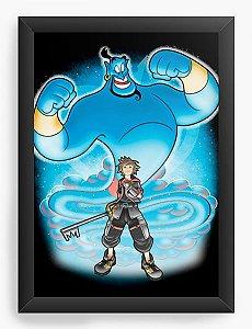 Quadro Decorativo A4 (33X24) Geekz Aladino - Kingdom Hearts - Loja Nerd e Geek - Presentes Criativos