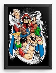 Quadro Decorativo A4 (33X24) Geekz Street Fighter - Loja Nerd e Geek - Presentes Criativos