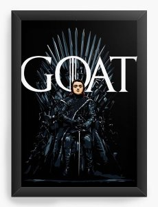 Quadro Decorativo A4 (33X24) Geekz Game of Thrones - Arya Stark - Loja Nerd e Geek - Presentes Criativos