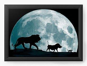 Quadro Decorativo A4 (33X24) Geekz Rei da Selva - Loja Nerd e Geek - Presentes Criativos