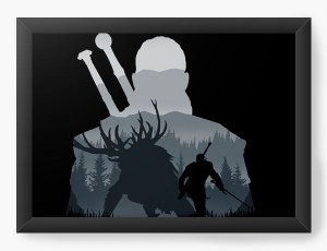 Quadro Decorativo A4 (33X24) Geekz The Witcher - Loja Nerd e Geek - Presentes Criativos