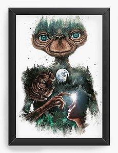 Quadro Decorativo A4 (33X24) Geekz ET O Extraterrestre - Loja Nerd e Geek - Presentes Criativos
