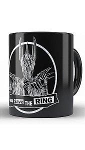 Caneca Geekz Save the Ring - Loja Nerd e Geek - Presentes Criativos