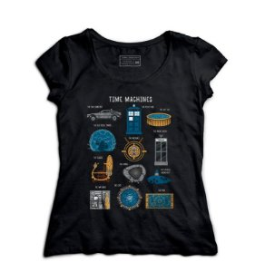 Camiseta Feminina Doctor Who Machine - Loja Nerd e Geek - Presentes Criativos