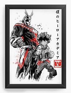 Quadro Decorativo A4 (33X24) Geekz Boku no Hero Academia   - Loja Nerd e Geek - Presentes Criativos