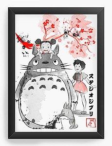 Quadro Decorativo A4 (33X24) Geekz Meu amigo Totoro - Loja Nerd e Geek - Presentes Criativos