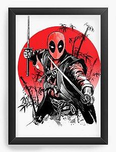 Quadro Decorativo A4 (33X24) Geekz  Samurai - Loja Nerd e Geek - Presentes Criativos