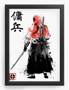 Quadro Decorativo A4 (33X24) Geekz Red Hero - Loja Nerd e Geek - Presentes Criativos