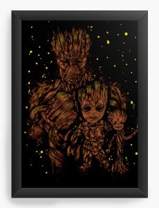 Quadro Decorativo A4 (33X24) Geekz Tree Family - Loja Nerd e Geek - Presentes Criativos