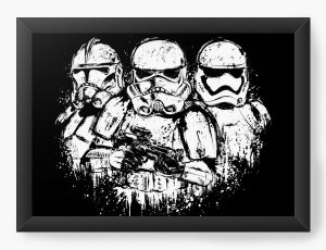 Quadro Decorativo A4 (33X24) Geekz Space Wars Storm - Loja Nerd e Geek - Presentes Criativos