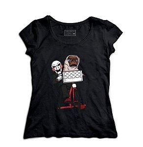 Camiseta Feminina Jogos Mortais - ET - Loja Nerd e Geek - Presentes Criativos