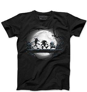Camiseta Masculina Sonic e Super Plumber - Loja Nerd e Geek - Presentes Criativos