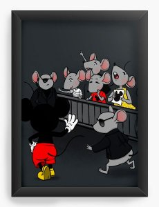 Quadro Decorativo A4 (33X24) Mouse - Loja Nerd e Geek - Presentes Criativos