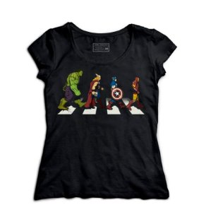 Camiseta Feminina The Avengers - Loja Nerd e Geek - Presentes Criativos