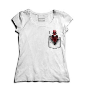 Camiseta Feminina Bolso Mascara - Loja Nerd e Geek - Presentes Criativos