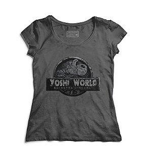 Camiseta Feminina Yoshi World - Loja Nerd e Geek - Presentes Criativos