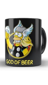 Caneca Geekz Homer Simpsons - God of Beer