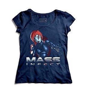 Camiseta Feminina Mass Infect - Loja Nerd e Geek - Presentes Criativos