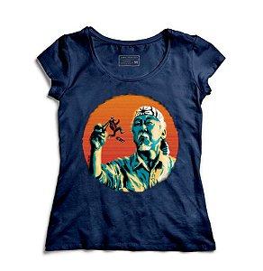 Camiseta Feminina Mr. Miyagi & Marty McFly - Loja Nerd e Geek - Presentes Criativos