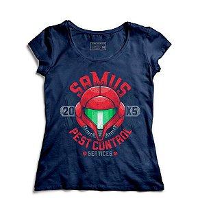 Camiseta Feminina Samus Aran - Loja Nerd e Geek - Presentes Criativos