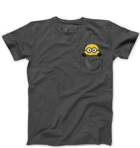 Camiseta Masculina Minion Bolso  - Loja Nerd e Geek - Presentes Criativos