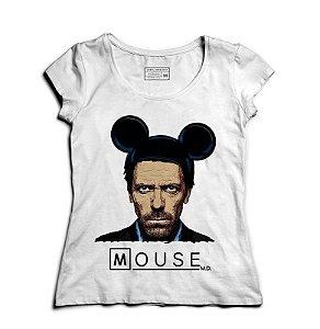Camiseta Feminina Dr Mouse  - Loja Nerd e Geek - Presentes Criativos