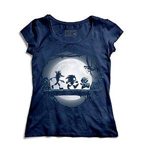Camiseta Feminina Sonic e Super Plumber - Kakuna Matata - Loja Nerd e Geek - Presentes Criativos