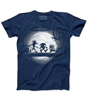 Camiseta Masculina Sonic e Super Plumber - Kakuna Matata  - Loja Nerd e Geek - Presentes Criativos