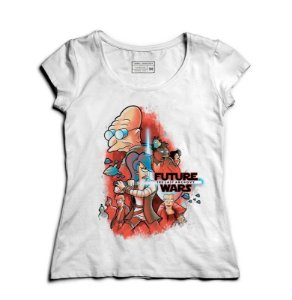 Camiseta Feminina Space wars Future - Loja Nerd e Geek - Presentes Criativos