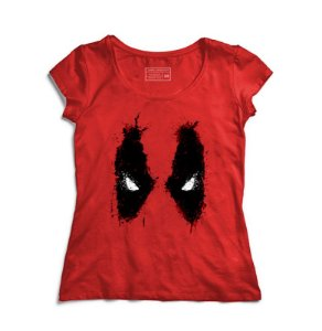 Camiseta Feminina Red Eyes - Loja Nerd e Geek - Presentes Criativos